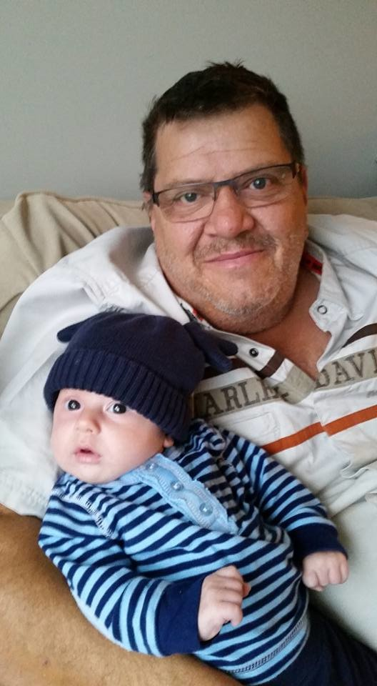 Mark and his new Grandson baby Harris!