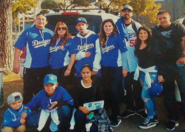 Avelica Family at Chaves Ravine - True Dodger Blue