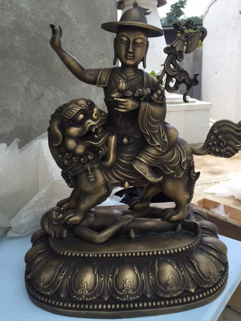 Sample of 18-inch bronze Peaceful (Duldzin) Dorje Shugden