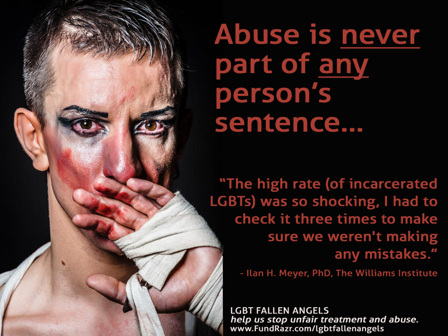 Abused man with makeup - LGBT Fallen Angels
