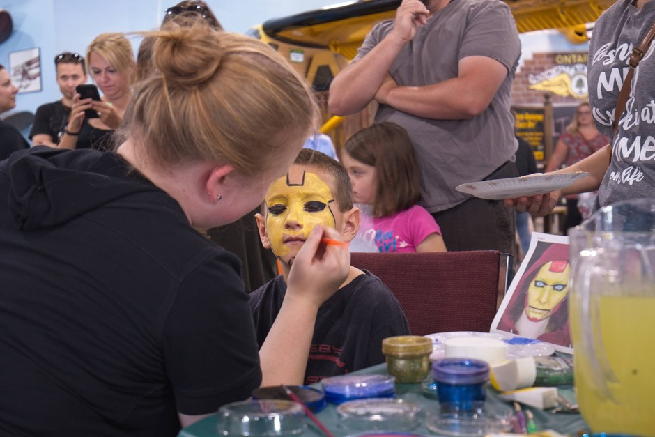 Face painting 2017 Bushplane Days