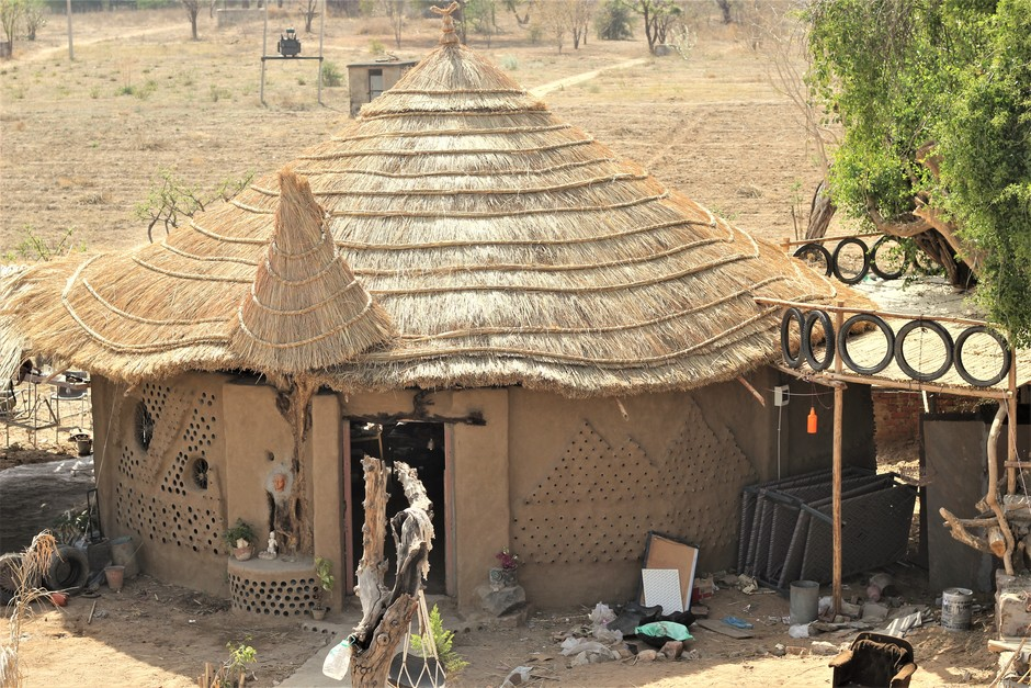 The Pushkar Project, built by a global community: a model for building with upcycled and natural materials.