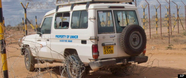 Abandoned NRC vehicle after abduction