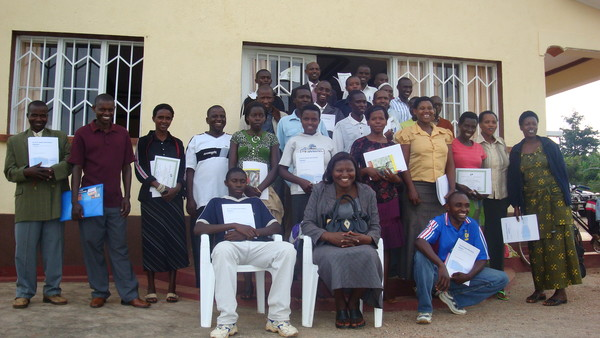Genocide survivors and perpetrators graduating from REACH training.