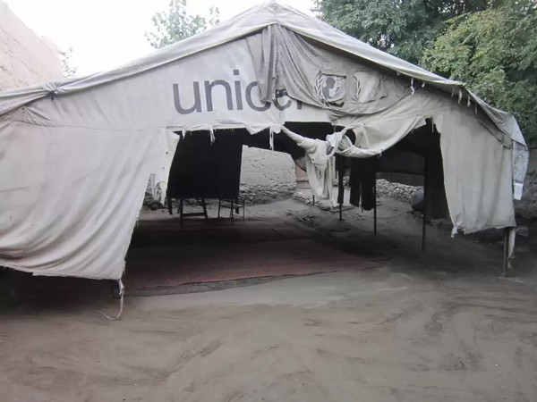Shelter they received from Unicef