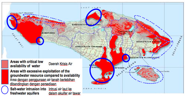 Bali Water Crisis Areas (2012-2015)