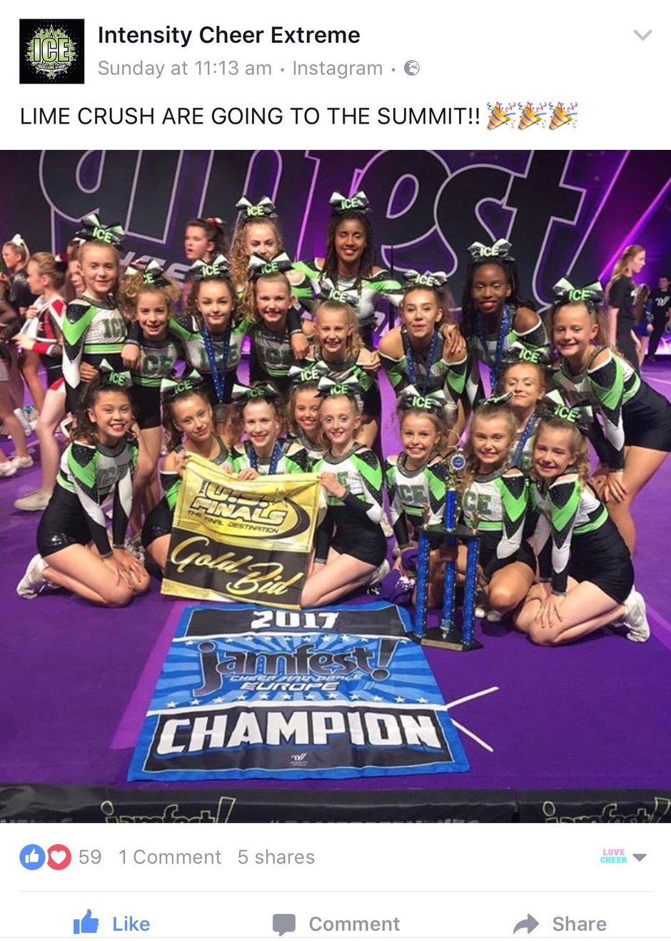Lime Crush with their 1st place and Bid